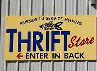 Mound House Thrift Store Sign